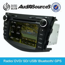 double din car dvd for toyota rav4 dvd gps navigation car multimedia system with bluetooth FM radio HD video car stereo