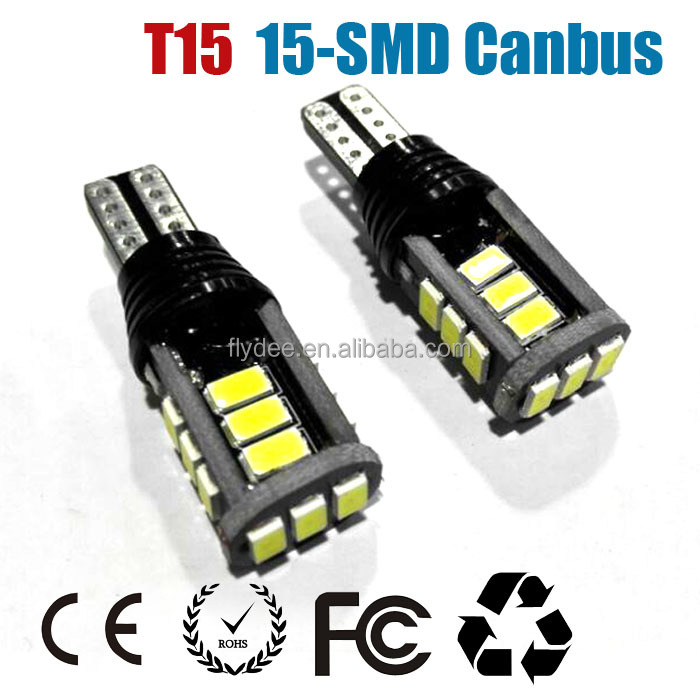 Super Bright LED T15 15SMD 5630 White Canbus Error Free Reverse Light Bulbs for BMW, Audi, VW, Toyota