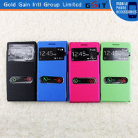 Newest flip cover case for huawei ascend p6