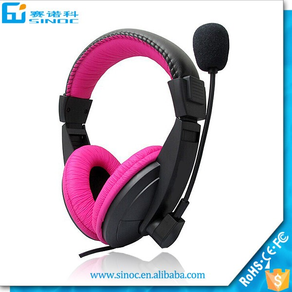 Made in China best promotion gift computer gaming wired headset with cheapest price