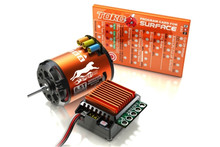 SKyRC Cheetah 1/10 CS60 60A Sensored ESC + Cheetah 1600-4000KV/2P Brushless Motor Program Card Combo