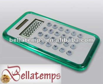 Pocket calculator with aluminum cover
