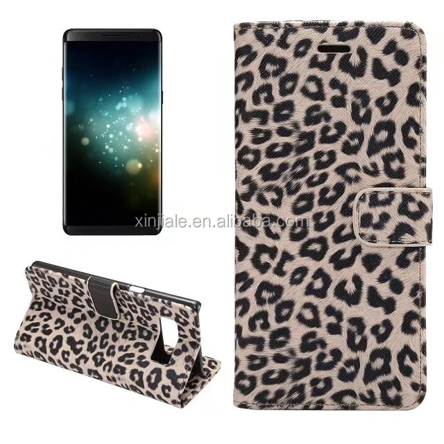 book style Leopard Pattern Leather Wallet Phone Case for iPhone X iPHONE 7/8 Plus Samsung Note 8 S6 S7 S8 Plus G6