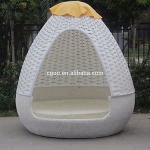 UV Resistant Garden Egg Chair Outdoor Swing Round Bed