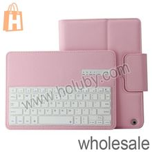 Fashion Lichee Pattern Magnetic Flip Stand Leather Cover ABS Detachable Bluetooth v3.0 Keyboard For iPad Air