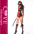 Wholesale Strapped Up Sexy Fierce Red Ninja Costume With Red Sash