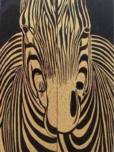 Morden design abstract zebra oil painting for house decoration