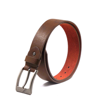 FM brand wholesale hot sale cowhide 100% genuine fashion belts china brown leather belt