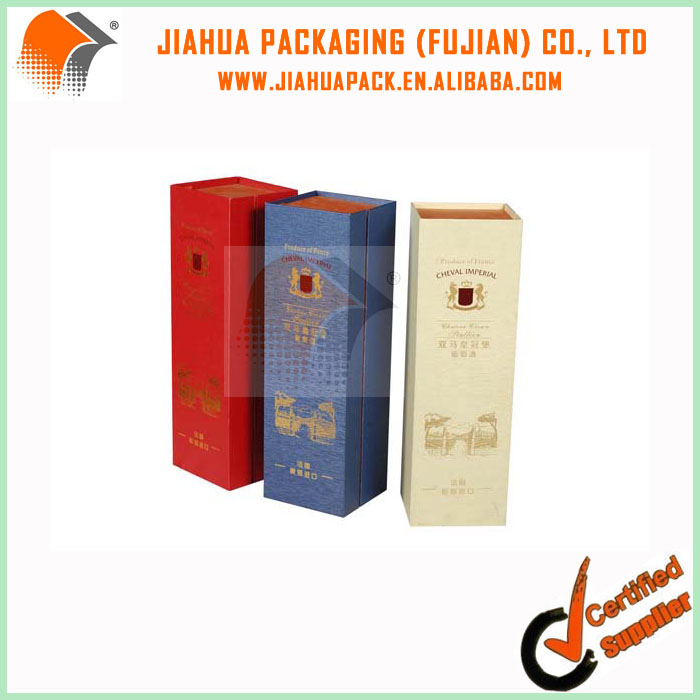 Carboard antique wine bottle gift packaging box