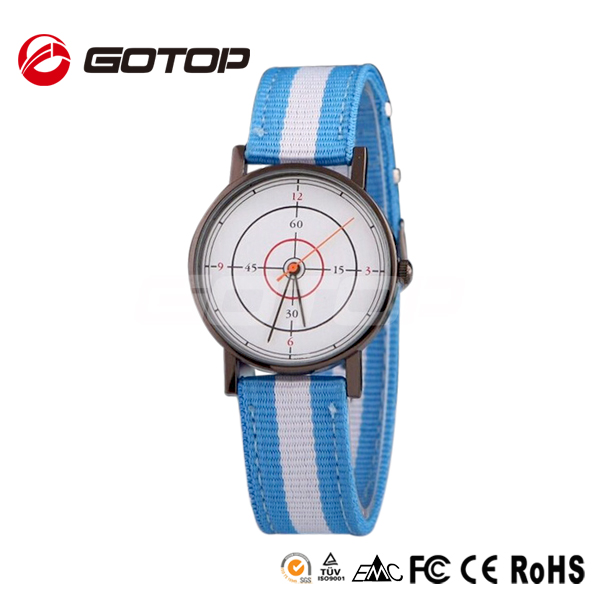 China Wholesale Unisex Waterproof Quartz Nylon Custom Dial American Sports Discount Watch
