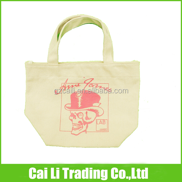 100%cotton canvas ladies shopping tote bag handle