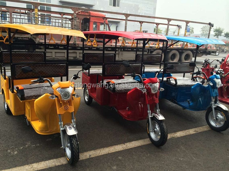 6 seat electric three wheeler /1000W battery powered 3 wheel Tuk electric tricycle India Nepal Bangladesh