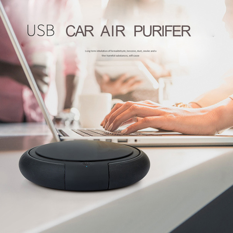 USB HEPA Purifier Car Air Freshener Cleaner Car Air Purifier Ionizer