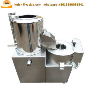 Potato washing peeling cutting machine / electric potato slicer