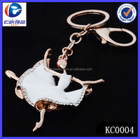 New Design Fashion Diamond Taxi dancer 3D printing metal keychains