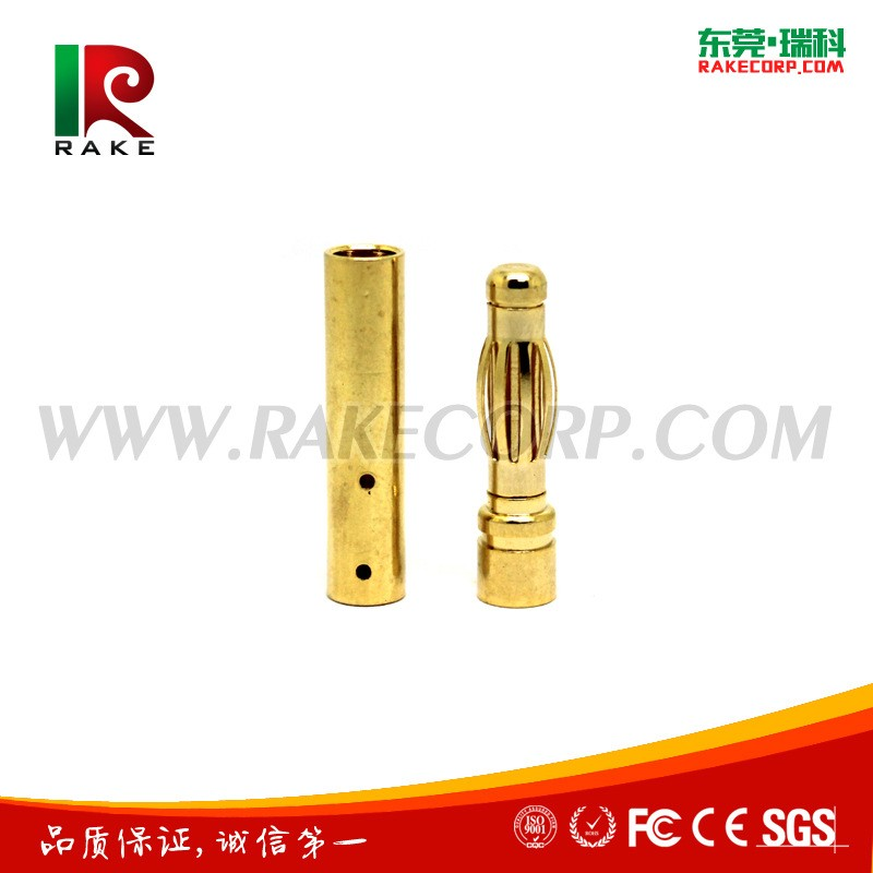 4mm Gold Plated Brass Banana Plug Rc Connector