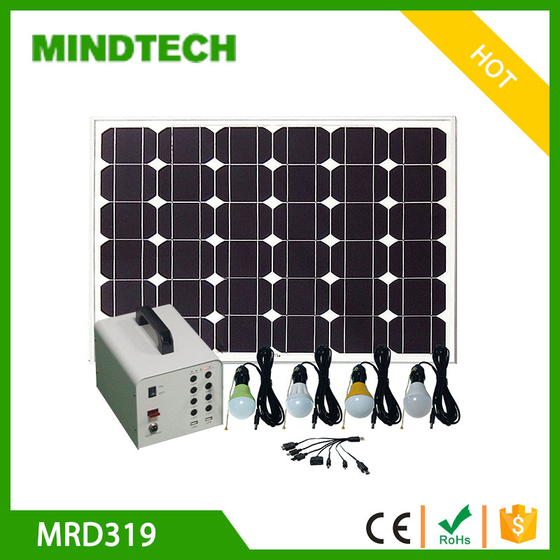 Solar battery system in solar energy generator load DC fan and TV