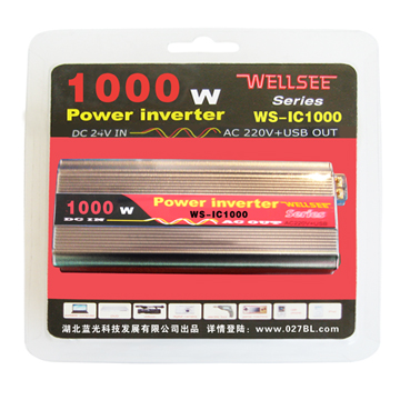 Home lightning system solar inverters 1000W 24V DC AC 220V WS-IC1000 automobile portable type