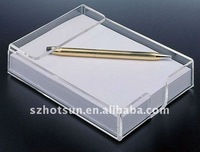 pop design clear acrylic paper tray/note box