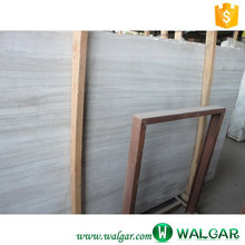 Chinese white wood marble slabs price for cutting bathroom floor tiles