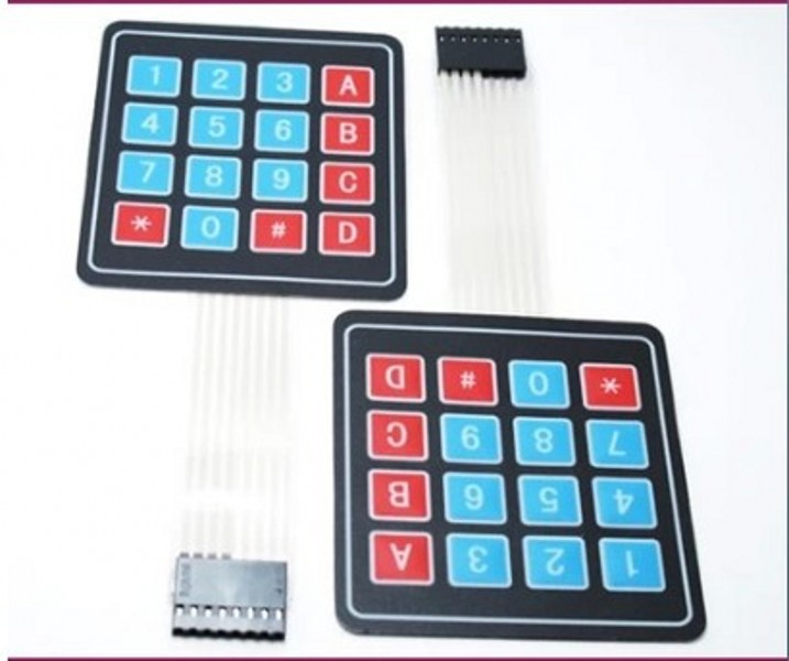 . 4 * 4 matrix keyboard 50PCS/LOT 16 Key Membrane Switch Keypad 4 x 4 Matrix Array Matrix keyboard !