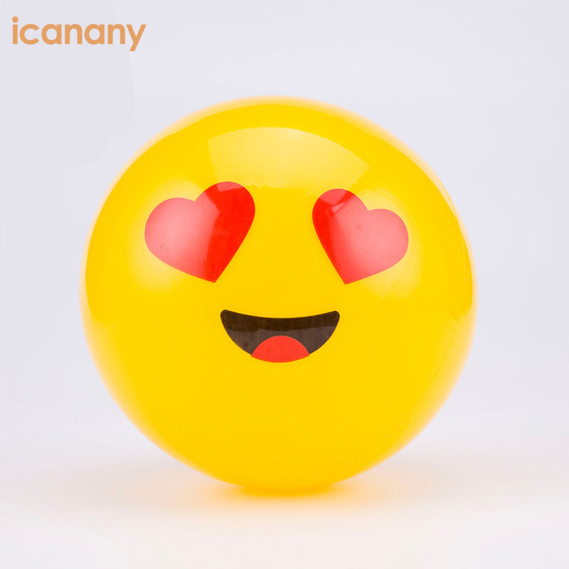 "12"" Emoji Inflatable Beach Balls 2018 amazon hot sale play beach volleyball for Pool Games"