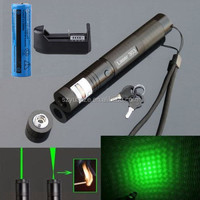 Adjustable Focus Burning Match Lazer 303 Green Laser Pointer