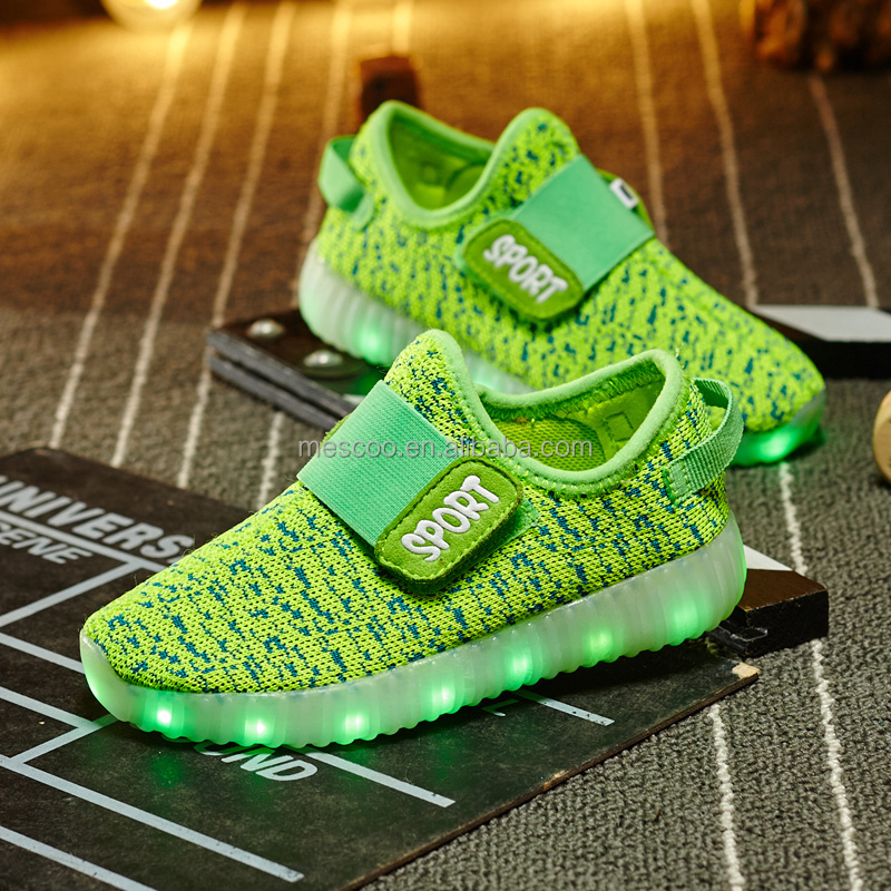 New USB Rechargeable LED Shoes,Children Kids Lightweight Breathable Weave Mesh Luminous Leisure Sneakers Sport Shoes for Kids