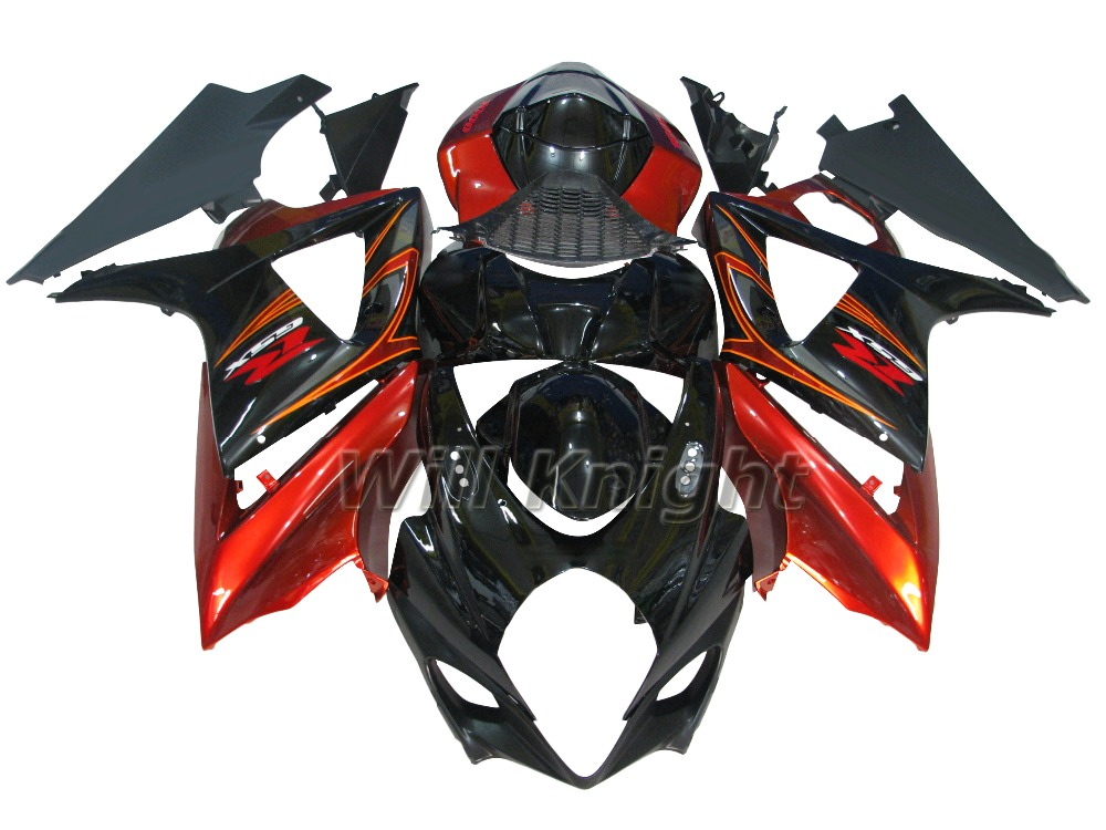 Injection Fairings For Suzuki GSXR1000 K7 07 08 Year 2007 2008 Plastics ABS Complete Motorcycle Fairing Kit Red Black