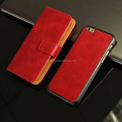 Pretty Fashion design 2 in 1 Leather wallet case for iphone 6 4.7""