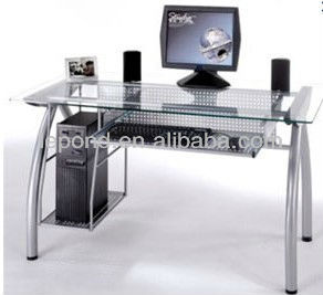 computer table glass computer table