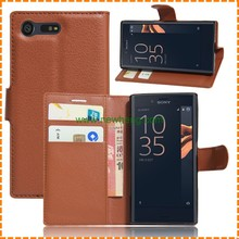 Magnetic Leather Side Flip Wallet Book Case Cover For Sony Xperia X Compact
