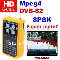 .2013 free shipping HD mpeg4 DVB-S2 satellite siganl finder meter ws 6922 Finder Satellite Meter satlink ws-6922