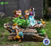 Craft Resin Solar Fancy Dress Costumes Garden Snow White and Seven Dwarf