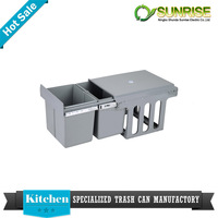 kitchen trash bin compost bin draw out built in cabinet dustbin refuse bin