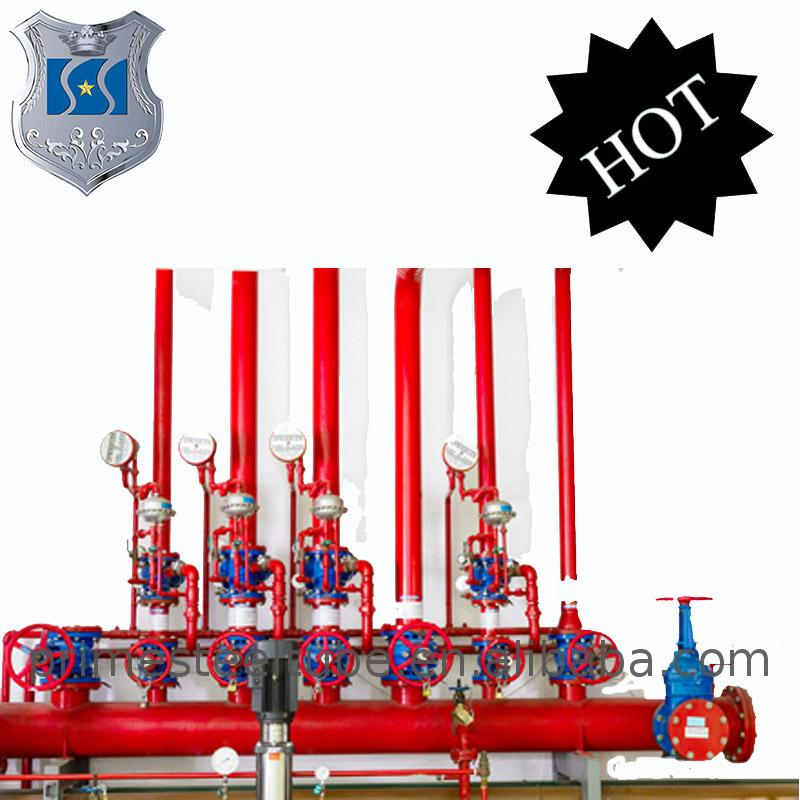 FM UL listed RAL 3000 Red Painting ASTM A795 Fire Fighting Sprinkler wet and dry system with Grooved End