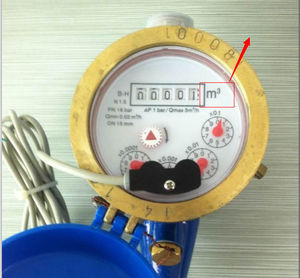 Multi jet water meter Dry water meters, Reed switch water meter with pulse output