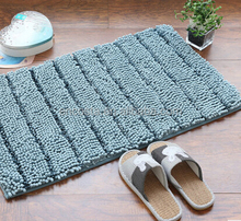 Stripe High Quality Customized Size Plush Cotton Wholesale Bedroom Floor Mats