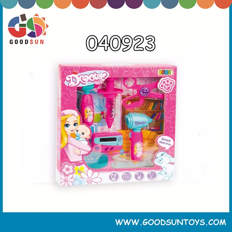 2016 New style kids mini plastic pretend hospital doctor play set toy with IC & light for kids
