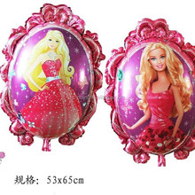 The new Barbie Dolls character mirror foil balloon