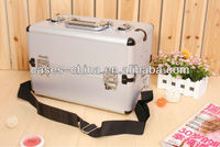 Professional aluminium makeup train grooming case