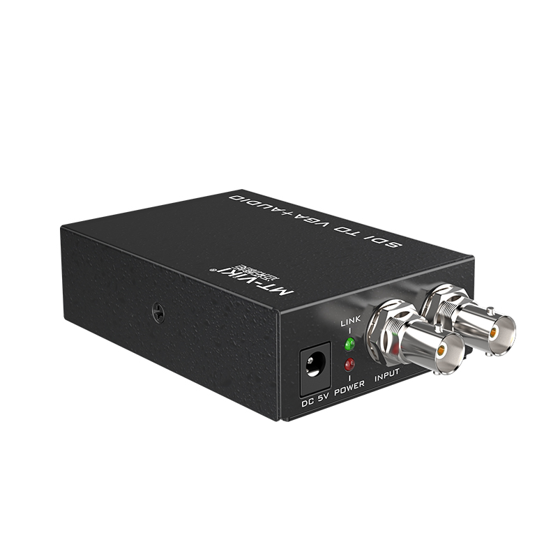 SDI to VGA + AUDIO Converters with 1x SDI local output,separate 3.5mm audio SDI repeater 1080P video converter MT-SV12