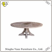 TDW16314 Top Quality New Style Old Chinese White Wash Round Table