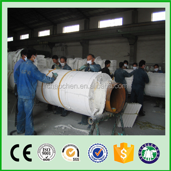 Calcium Silicate Pipe Cover : Calcium silicate insulation pipe cover for hot air and