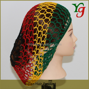 H-306 Soft Rayon Hair Snood hat Knitting Hair Net cap
