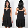 Black Chiffon Fashion Strap Kapil Diamontie Mature Ladies Evening Dress