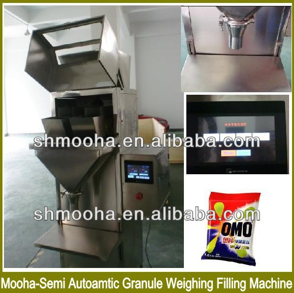 semi-automatic nuts/solid food weighing filling machine