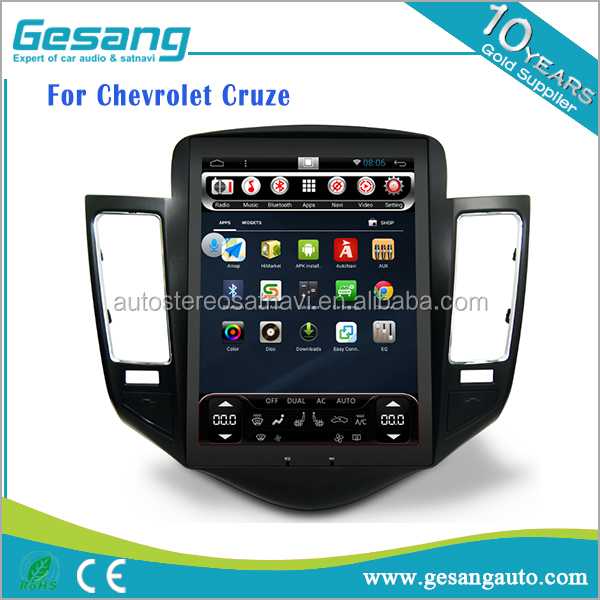 CE FCC Certification Android Car DVD and RadioTuner for Chevrolet Cruze Built-in GPS,CD Player,Bluetooth-Enabled Combination