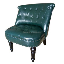 Europe style button style sofa chair,,One Seater Button PU leather Tufted Sofa Chair