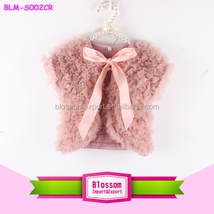 New fashion boutique chiffon baby girls cape high quality soft girl's cape shawl